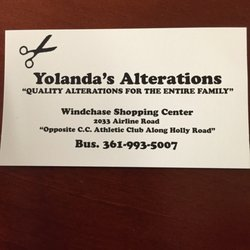 Yolandas alterations sewing alterations 2033 airline rd photo of yolandas alterations corpus christi tx united states business card colourmoves Image collections