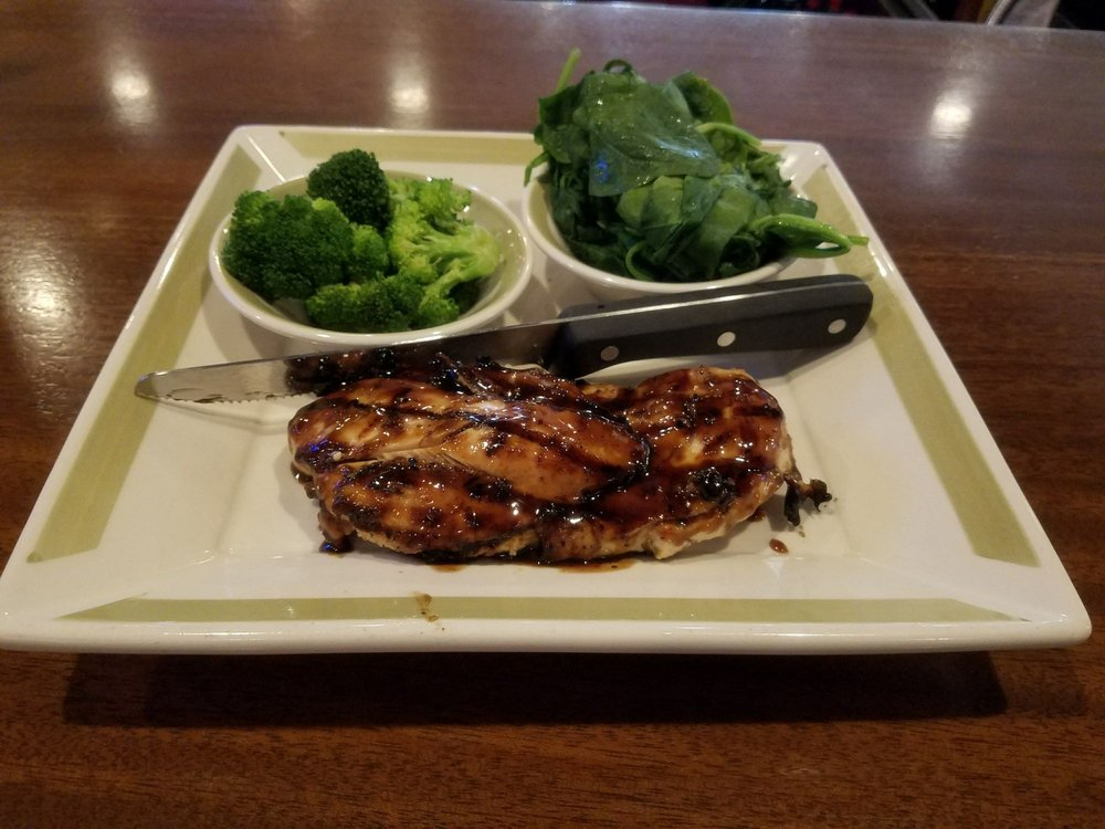 Balsamic Grilled Chicken Broccoli And Sweated Spinach Yelp