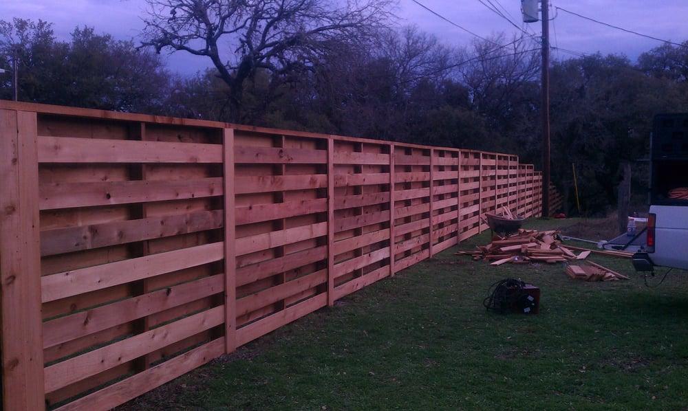Horizontal Cedar Fence Shadow Box Yelp