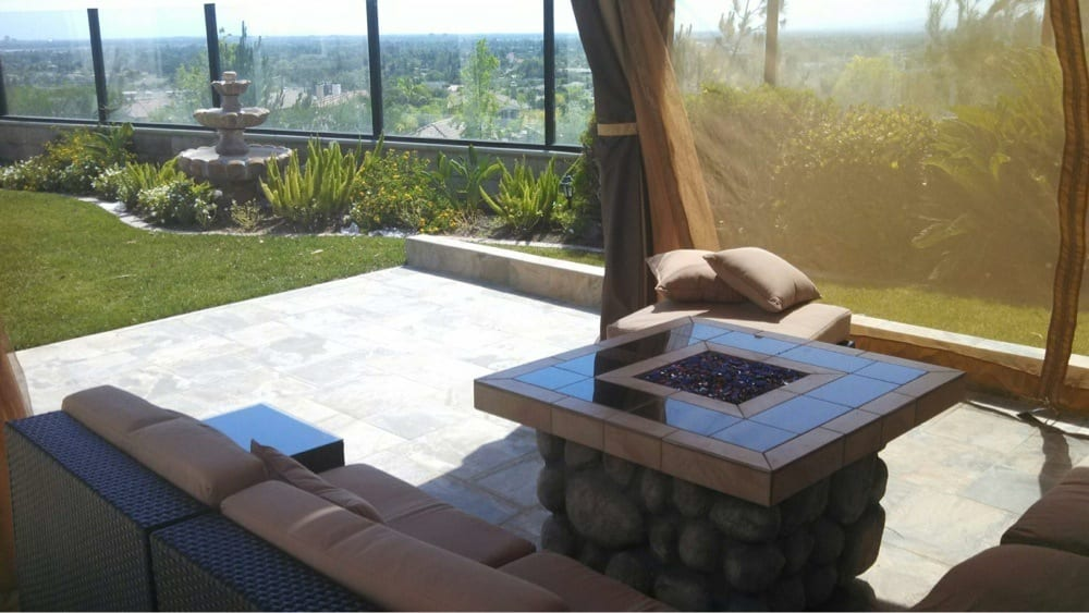 Wicker sectional with fire pit Yelp