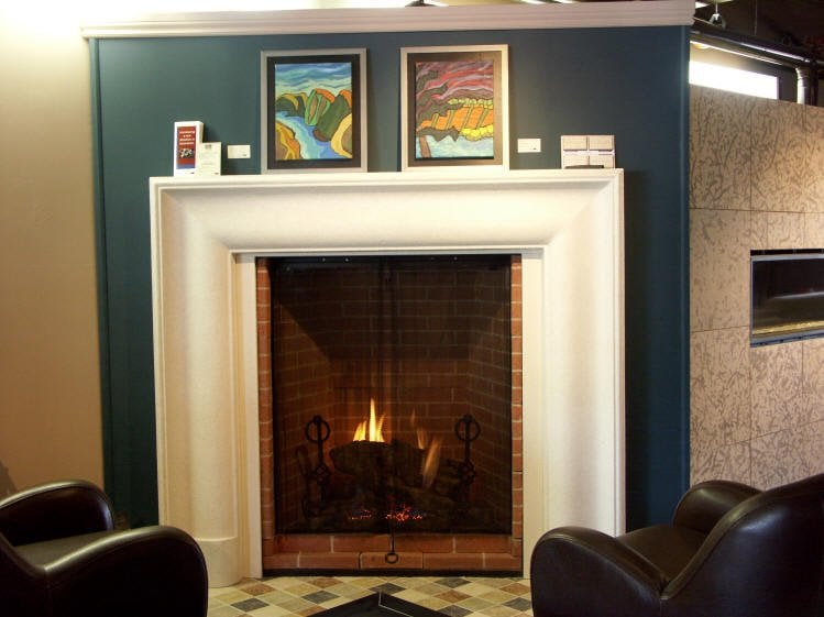 Design Dynamics Citadel Gas Fireplace with Dracme New Yorker ...