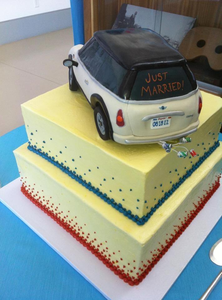 My MINI Cooper wedding cake - they made an exact replica. - Yelp