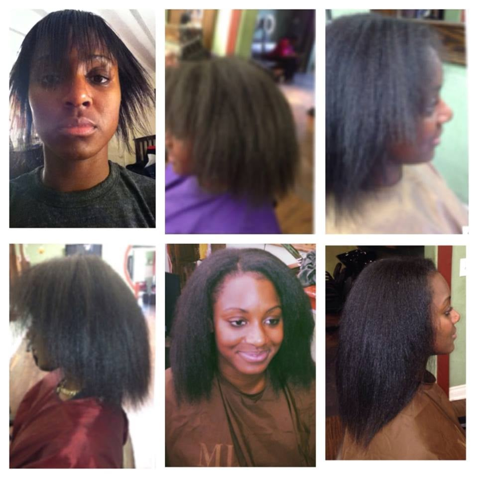 Hair Growth After Our Client Wore The Protective Style Of A Weave