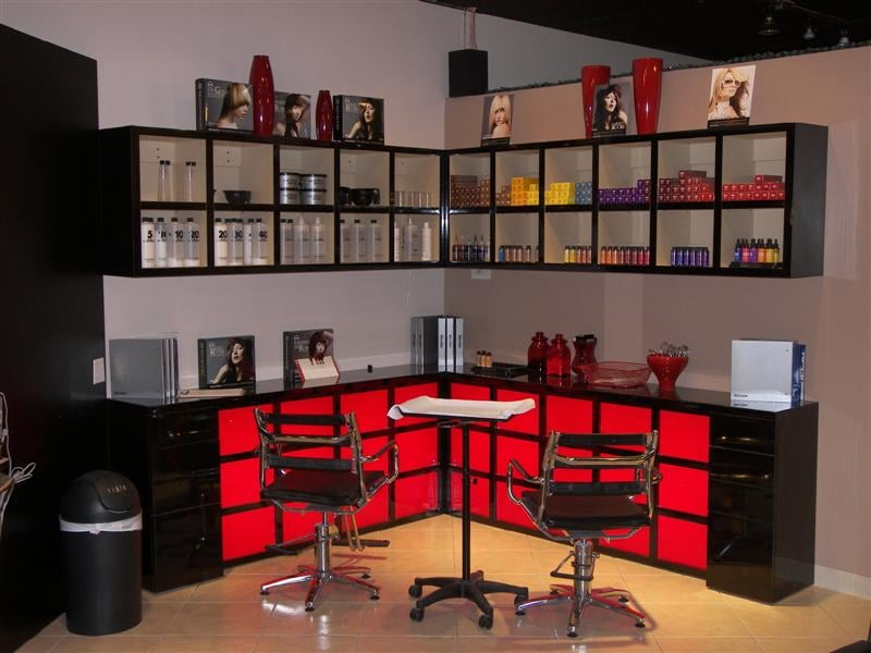 The Color Bar Where Color Is Mixed And Applied With A Finish Product