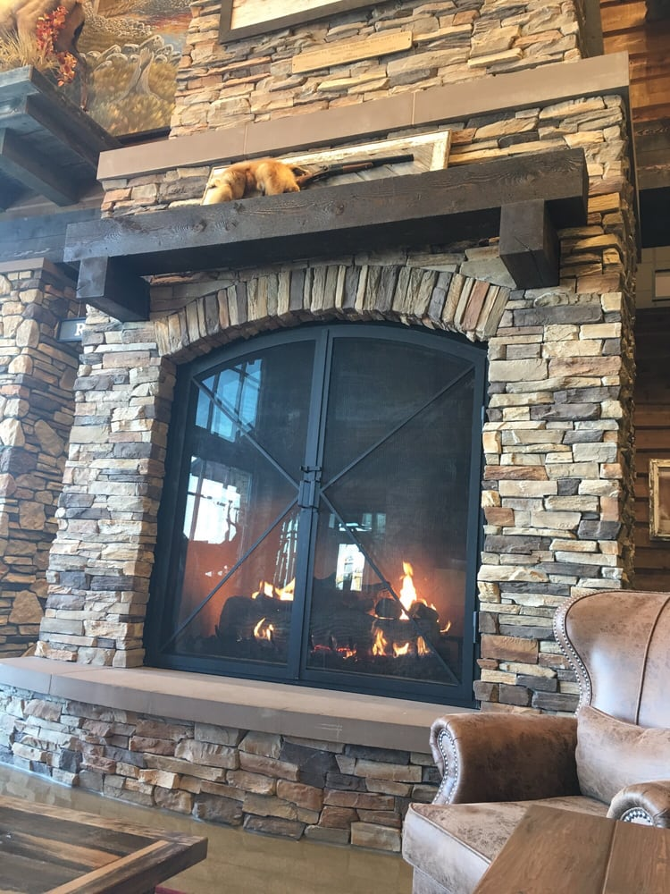 Huge fireplace too! Ha - Yelp