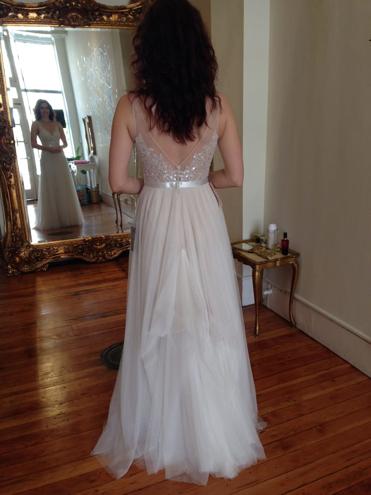 9 point bustle by Marissa on a tulle Watters gown - Yelp