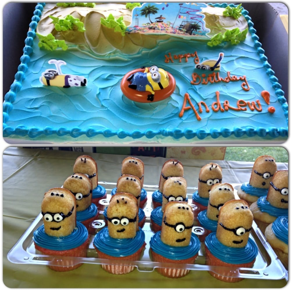 Tres Leches Cake And Minion Cupcakes Yelp