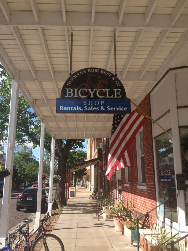 Hermann Ride Rest & Go Bicycle Shop: 215 Schiller St, Hermann, MO