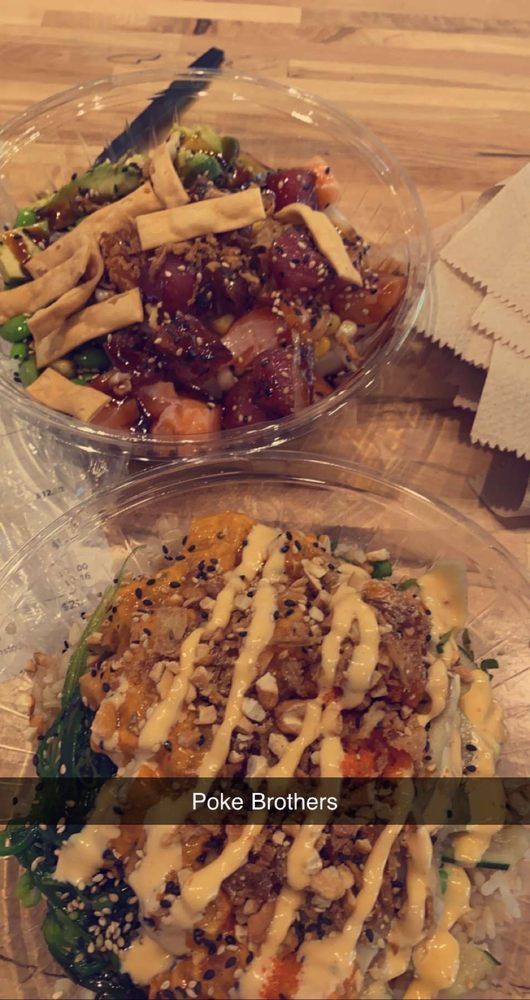 Food from Poke Bros.