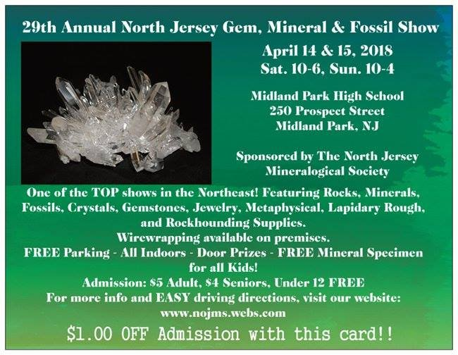 29th Annual North Jersey Gem, Mineral, & Fossil Show