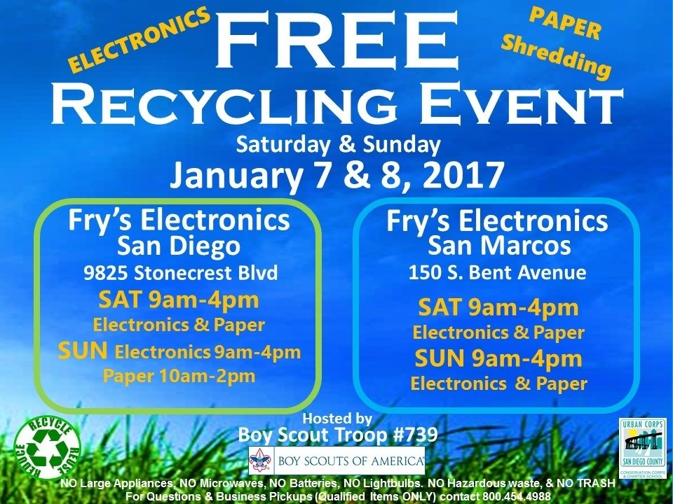 Free Electronics Recycling And Paper Shredding At Fry S Electronics