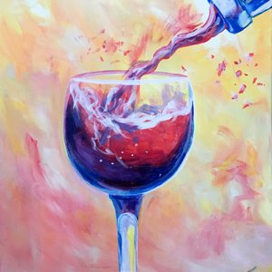 vino and canvas wine pour painting class phoenix