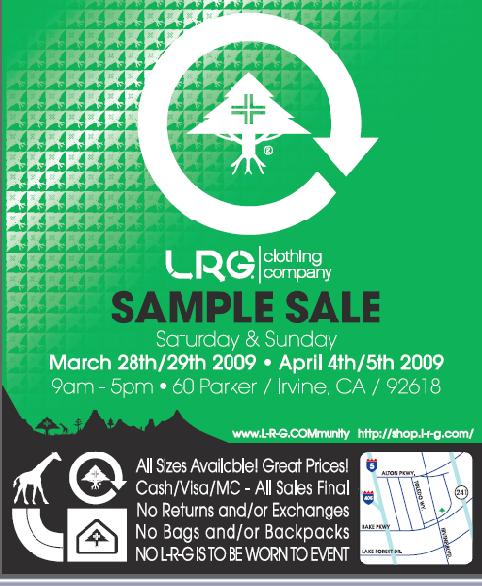 LRG Sample Sale, Irvine   Events - Yelp