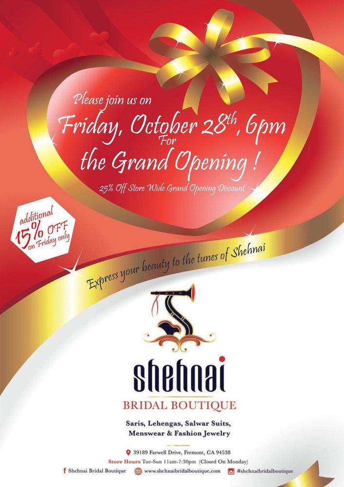 shehnai bridal boutique fremont grand opening fremont events