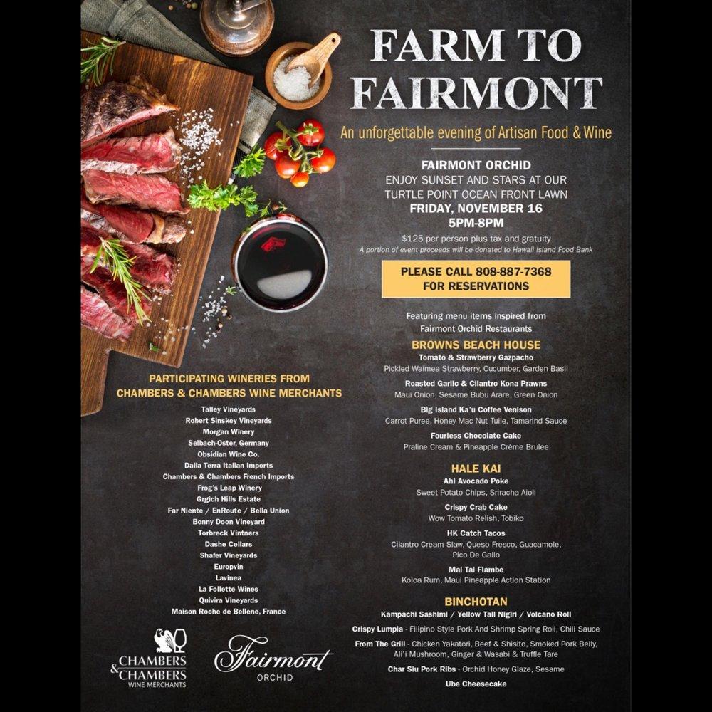 Farm to Fairmont, Kohala Coast | Events - Yelp
