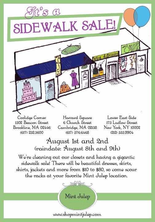 Mint Julep Sidewalk Sale, Cambridge | Events - Yelp