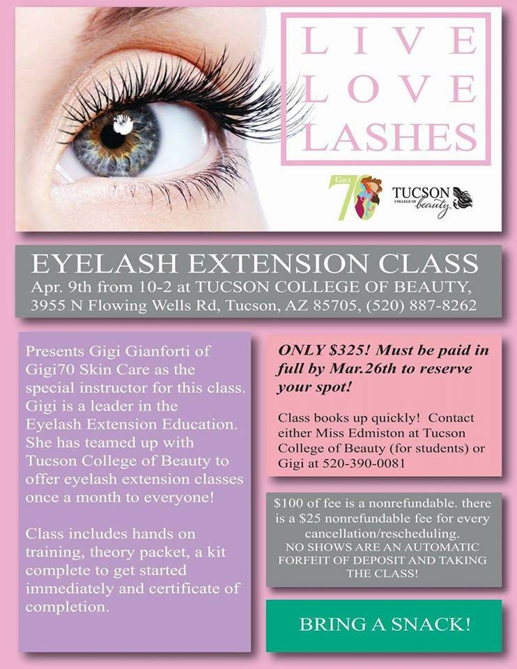 eyelash extension class, tucson | events - yelp