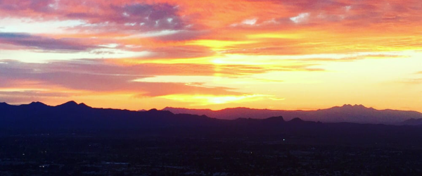 A gorgeous AZ sunset snapped while hiking Camelback Mountain!